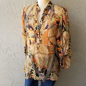 Diane von Furstenberg Syrah Printed Silk Tunic